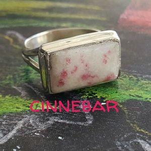 Cinnebar Ring Sterling Silver